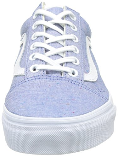 Vans UA Old Skool, Baskets Basses Femme, Crystal Blu, 36 EU Bleu (Speckle Jersey Blue/true White)