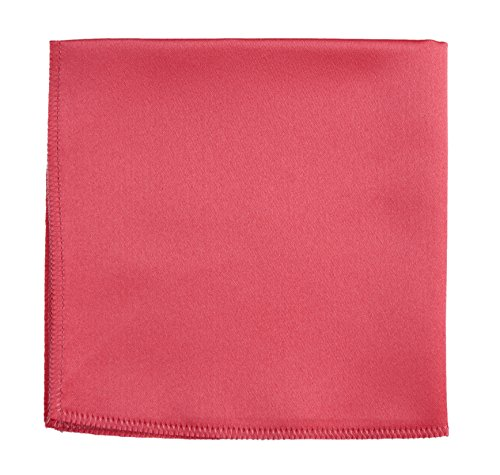 Pocket Square Hanky in Solid Colors Sized for Boys and Men By Tuxgear (Guava)