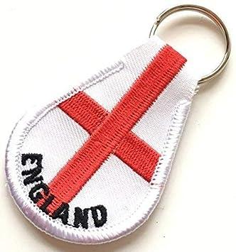 Inglaterra Cruz de San Jorge Bordado Llavero mando llave con ...