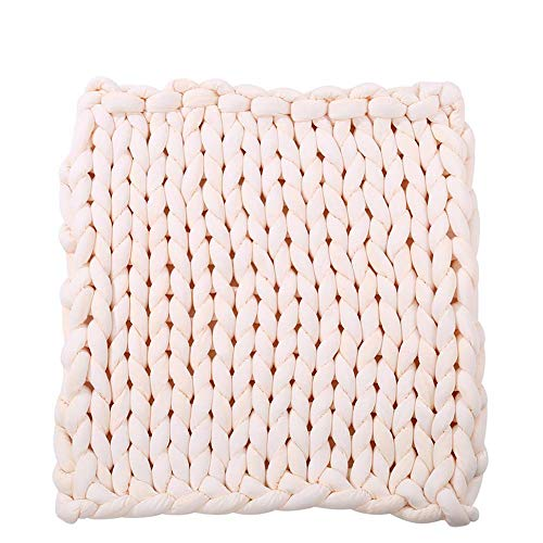 Arm Knitted Chunky Blanket,Giant Knit Throw,Bulky Knit 40''x80'' Throw,Extreme Knitting Braid Cotton Blanket Friend Gift by Hand Knit Blanket (Image #3)