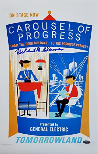 Richard M Sherman Brothers Signed GE Carousel Of Progress 11x17 Canvas Photo OCD