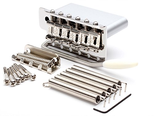 - Callaham Stratocaster Tremolo Bridge, For Standard Strat (Mexico), w/Pop-In Gilmour-Length Arm