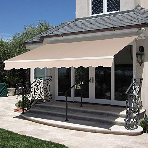 MCombo 13×8 Feet Manual Retractable Patio Door Window Awning Sunshade Shelter Outdoor Canop ...