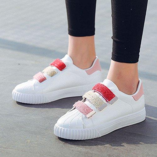 Zapatos Pink Blanco Dos Verano Fondo De Nan Mujer Transpirable Para Grueso Lona Colores Elegir OznqOrx8H