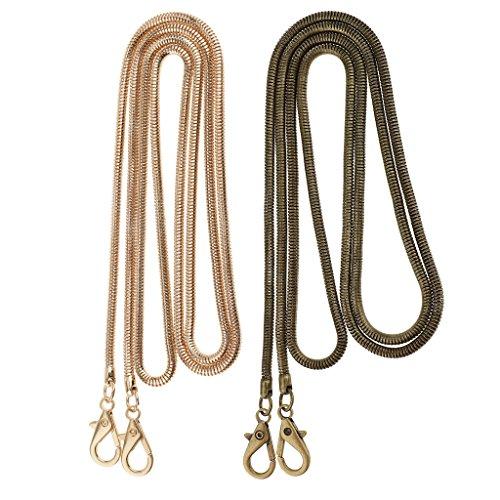Colours Bag Strap Bag Replacement Purse Messenger Sharplace Crossbody Handle Handbag 2 Chain 2 Chain Pieces Shoulder Snake Metal xf1qSTw7
