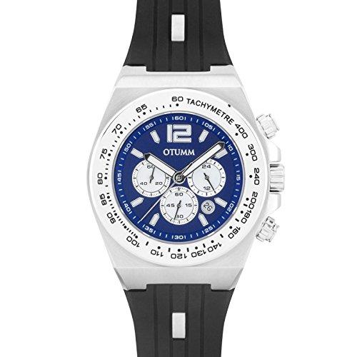 Otumm Sapphire Crono Acero Negro 41mm Unisex Sapphire Reloj: Amazon.es: Relojes
