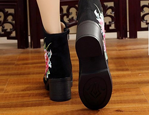 Tissu Automne Bottes High Heeled En Beijing KHSKX Short Une 34 Bottes Épais Bottes Nouvelle Brodé L'Hiver Bottes Chaussures Et Avec Cloth L'Ancien Coton xqTxF6nI