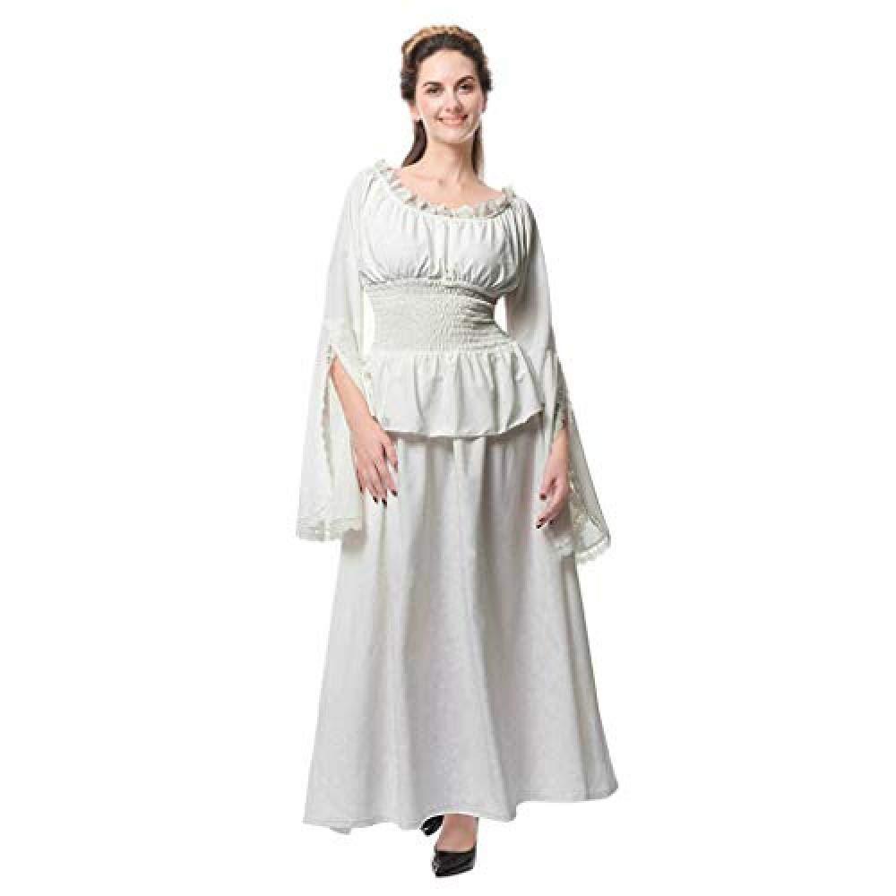 Womens Vintage Maxi Vestidos Retro Renacimiento Medieval ...