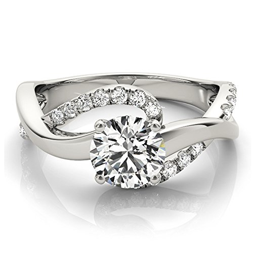 Transcendent Brilliance 14k Gold 3/4ct TDW Infinity Curved Diamond Engagement Ring (G-H, VS1-VS2)