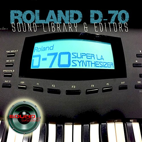 for ROLAND D-70 Large Original Factory & NEW Created Sound Library & Editors on CD or download by SoundLoad