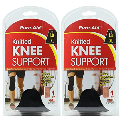 (Pure-Aid Knitted Knee Support (LG-XL) (Pack of 2))