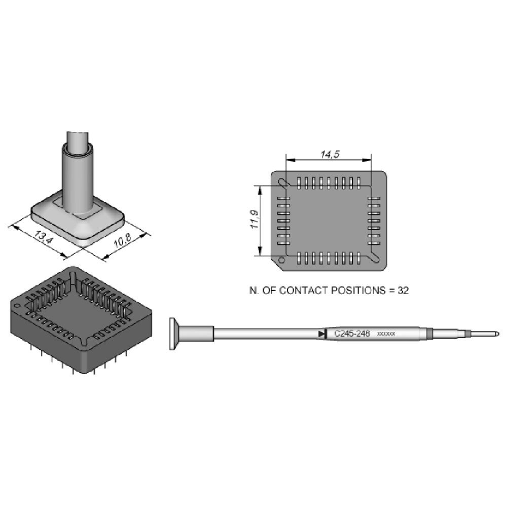 JBC C245248 SMD-Entl/ötspitze f/ür T245