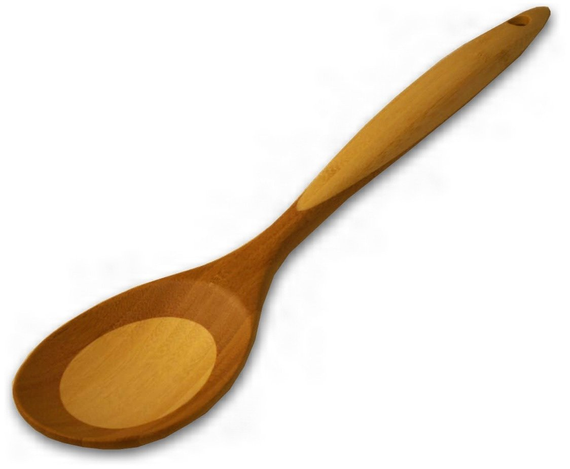 Island Bamboo 73128 Large Traditional Spoon, Brown 40140