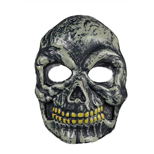 Halloween Horror Mask, S.Charma Ghost Festival Grimace Bloody Zombie Prom Party Dress Up Props (A)]()