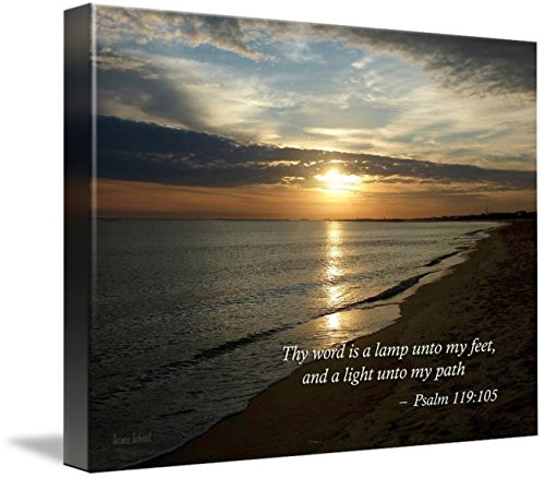 Wall Art Print entitled Psalm 119:105 Thy Word Is A Lamp by Susan Savad | 32 x 24
