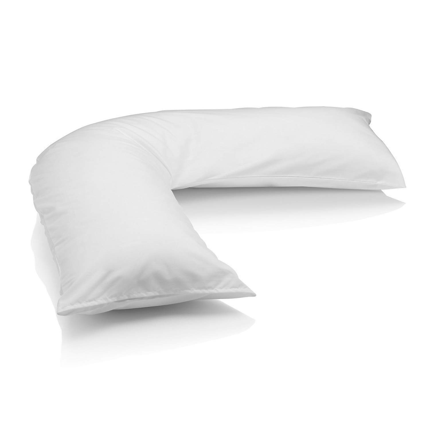 Anti Dust Mite Used for additional Back Iyan Linens Ltd Super Soft Duck Feather /& Down V Shaped Hotel Quality Pillow Washable Neck /& Leg Support Orthopedic Encased In White Cover V Pillow Only