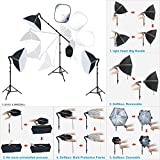 LINCO Lincostore Photo Portrait Video Studio Light Kit AM132 - Morning Glory Softbox: Perfect Effect and No Uninstalled Process