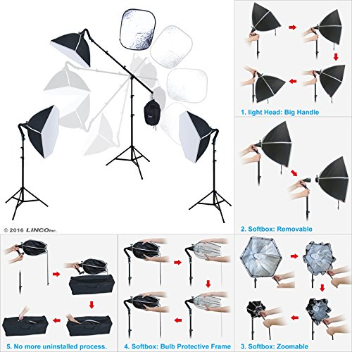 LINCO Lincostore Photo Portrait Video Studio Light Kit AM132 - Morning Glory Softbox: Perfect Effect and No Uninstalled Process by Linco