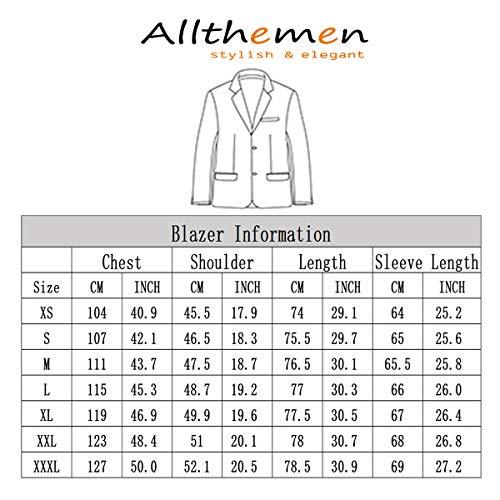 Slim Bottone Allthemen Casual Un Nero Smart Blazer Giacca Rvtq4Z