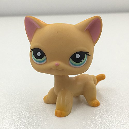 Luca Marrone Littlest Pet Shop Collection LPS, #339 Short Hair Cat Kitty Yellow Kitten Green Eyes Kids Toys by Luca Marrone (Image #1)