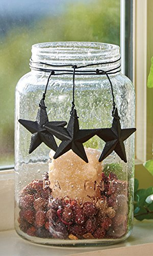 Park Designs Bubble Glass Jar Stars