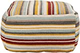 Surya Contemporary Square pouf/ottoman 20''x20''x12'' in Multi Color From Surya Poufs Collection
