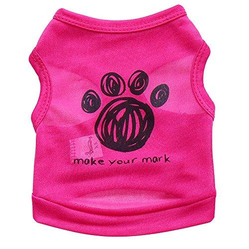 Hpapadks Black Footprints pet Vest,Hot Dog Vest Pet Clothes Apparel Vest Costumes Summer Dog Clothes for Small Dogs boy -