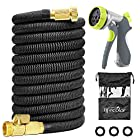 lifecolor Expanding Garden Hose, 100ft Expandable Water Hose with Double Latex Core, Solid