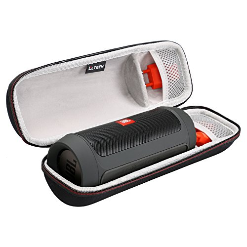 LTGEM EVA Hard Case Travel Carry Bag for JBL Charge 2 & Charge 2 + Wireless Bluetooth Speaker, with Mesh Pocket Fits Plug & Cables.
