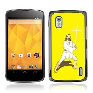 YOYOSHOP [Funny Kung Fu Jesus] LG Google Nexus 4 Case
