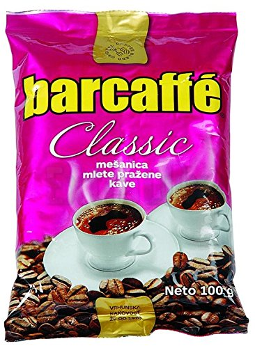 (Mleta Kava Barcaffe Classic - Roasted and Ground Coffee Blend for Preparation of Turkish Coffee, 100g (3.53 oz) Bag)