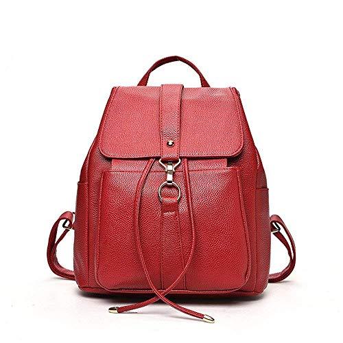 color La De Roja Negro Rojo Simple Casual Mochila Tamaño Eeayyygch Moda q0IBgxw