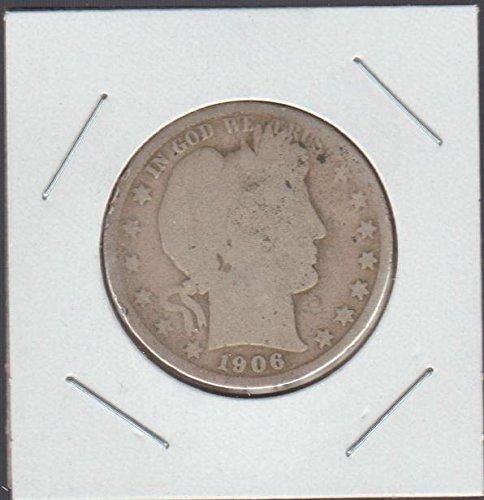 1906 O Barber or Liberty Head (1892-1915) Half Dollar Good