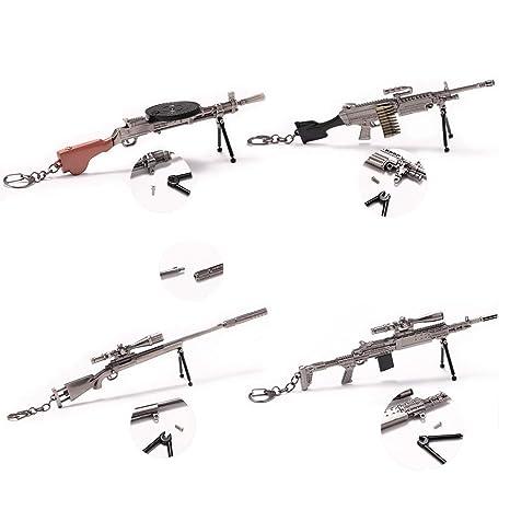 Amazon com : Removable M24 M249 MK14 DP-28 Model Key Chains Four