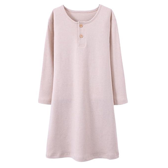 c04a4c7097 Amazon.com  Zhuhaitf Girls Home Long sleeves Cotton Sleep Skirt Kids  Princess Dress Pajamas  Clothing