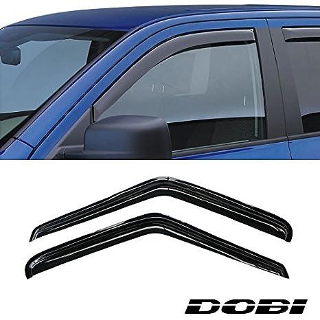 2pcs Front 2-Door Smoke Sun/Rain Guard Vent Shade Window Visors for 95-05  Chevy S10 Blazer 95-01 GMC S15 Jimmy 2-Door SUV 94-04 S10 Pickup Sonoma