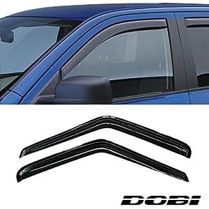 VioGi 2pcs Front 2-Door Smoke Sun/Rain Guard Vent Shade Window Visors For 95-05 Chevy S10 Blazer 95-01 GMC S15 Jimmy 2-Door SUV 94-04 S10 Pickup Sonoma Pickup 96-00 Isuzu Hombre (Front 2-Doors)
