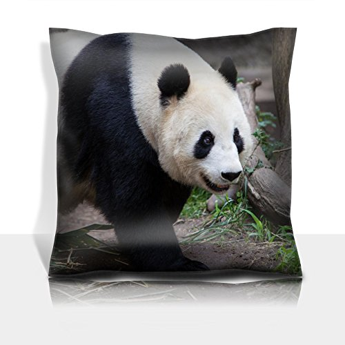 Luxlady Throw Pillowcase Polyester Satin Comfortable Decorative Soft Pillow Covers Protector sofa 16x16, 1 pack IMAGE ID: 19561889 A baby panda walks during the day in San Diego California USA
