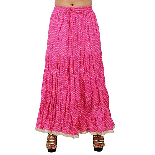 Stylish Skirt Pink Stylish Skirt Stylish Lehariya Cotton Pink Cotton Lehariya Pink nFw7f