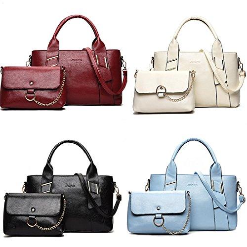 YYW Totes Handbags - Bolso mochila  para mujer Off white