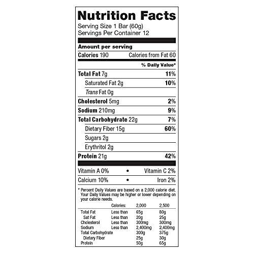 La barra de proteínas Quest Nutrition, Blueberry Muffin, 21 g de proteínas, 5 g de carbohidratos netos, 190 calorías, baja en carbohidratos, sin gluten, sin soya, 2.12 oz de barra, 12 unidades