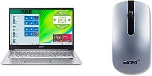 "Acer Swift 3 Thin & Light Laptop, 14"" Full HD IPS, AMD Ryzen 7 4700U Octa-Core Processor with Acer Slim Wireless Optical Mouse - Silver"