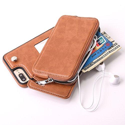 Jdon-case, Phone Fundas Covers para el iPhone 6 Plus y 6s Plus rotación extraíble TPU + Funda Protectora de Cuero con el...