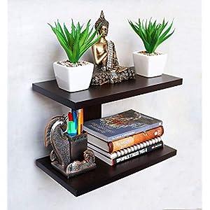 Dime Store Wall Shelf Wall Mounted Book Shelves Wall Shelves Rack (Standard, Brown)