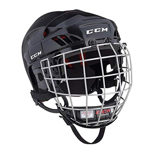 CCM Ht50 Hockey Helmet Combo Black M (Best Youth Hockey Helmet)