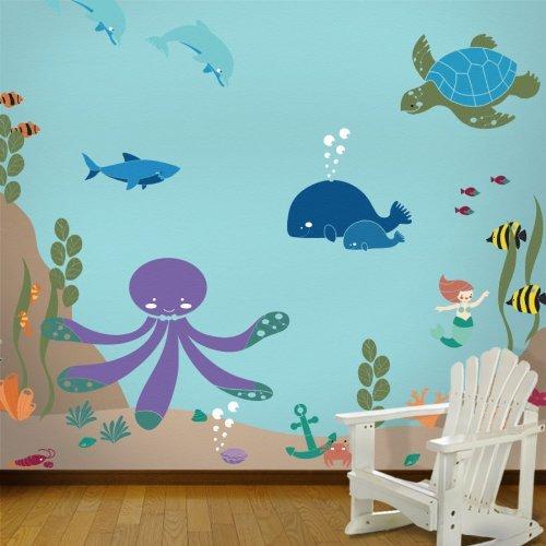 My Wonderful Walls Under The Sea Wall Mural Stencil Kit