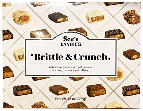 Halloween Toffee Candy (See's Candies Limited Edition Brittle & Crunch 13 oz Gift)