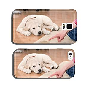 house training of guilty puppy cell phone cover case Samsung S6