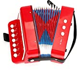 AIYIOUWEI Ten Keys Toy Accordion, Solo And Ensemble Instrument, Musical Instrument For Early Childhood Teaching