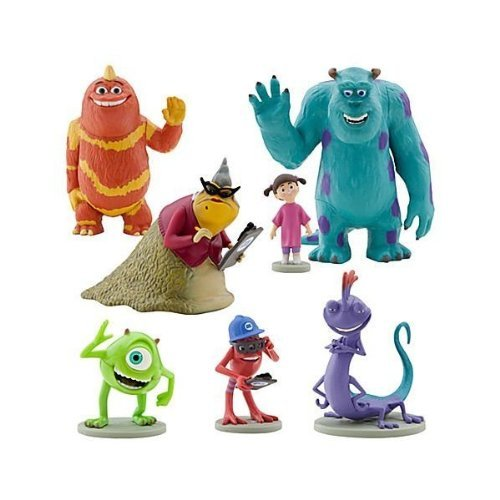 Price comparison product image Disney Monsters Inc. Figure Play Set 7 Piece PVC Cake Topper